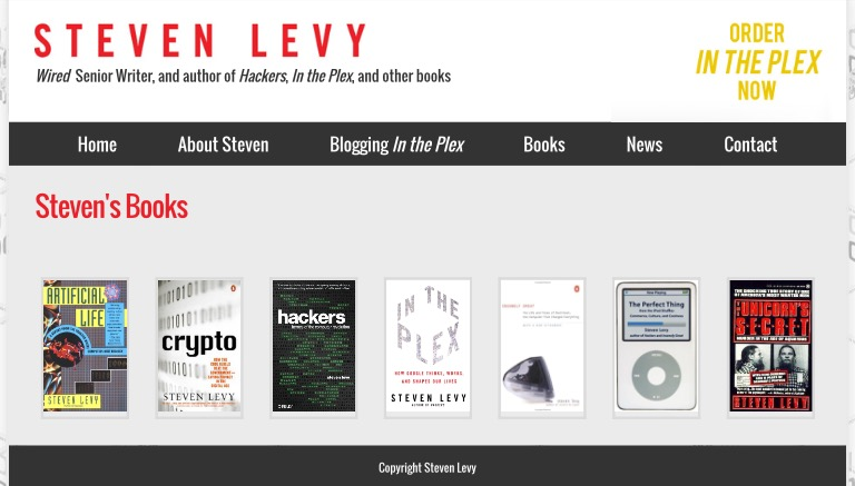 Steven Levy - Bibliography
